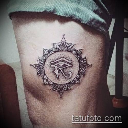 фото тату РА (Tattoo Ra) (значение) - пример рисунка - 039 tatufoto.com