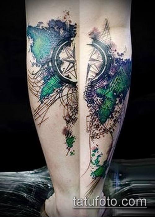 фото тату абстракция (tattoo abstraction) (значение) - пример рисунка - 005 tatufoto.com