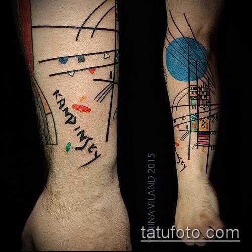 фото тату абстракция (tattoo abstraction) (значение) - пример рисунка - 014 tatufoto.com