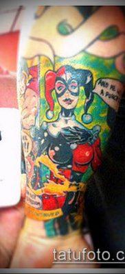 тату арлекин №158 – крутой вариант рисунка, который успешно можно использовать для преобразования и нанесения как тату арлекин девушка