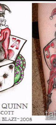 тату арлекин №799 – достойный вариант рисунка, который удачно можно использовать для переработки и нанесения как тату арлекин я просто смех