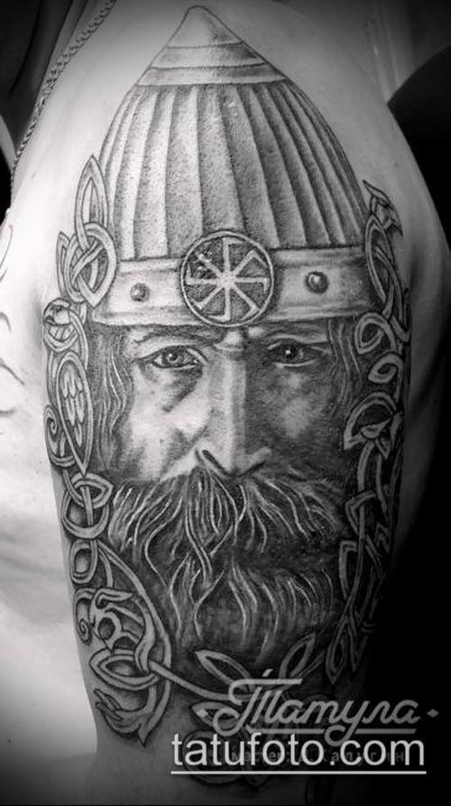 фото тату богатырь (strong man tattoo) (значение) - пример рисунка - 003 tatufoto.com