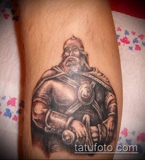фото тату богатырь (strong man tattoo) (значение) - пример рисунка - 005 tatufoto.com