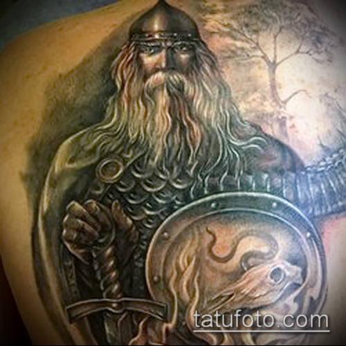 фото тату богатырь (strong man tattoo) (значение) - пример рисунка - 009 tatufoto.com