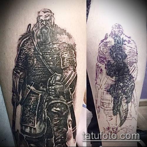 фото тату богатырь (strong man tattoo) (значение) - пример рисунка - 013 tatufoto.com