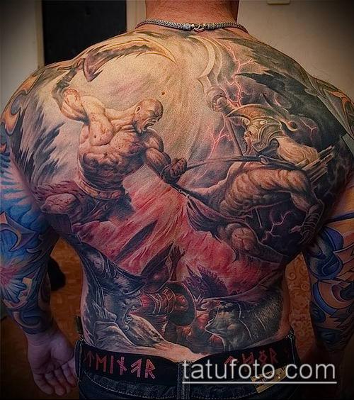 фото тату богатырь (strong man tattoo) (значение) - пример рисунка - 025 tatufoto.com
