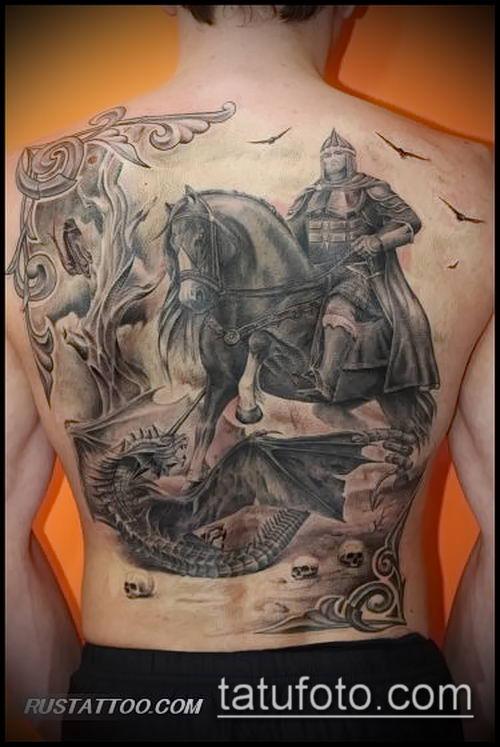 фото тату богатырь (strong man tattoo) (значение) - пример рисунка - 027 tatufoto.com