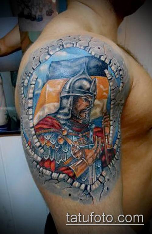 фото тату богатырь (strong man tattoo) (значение) - пример рисунка - 031 tatufoto.com