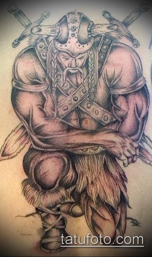фото тату богатырь (strong man tattoo) (значение) - пример рисунка - 039 tatufoto.com