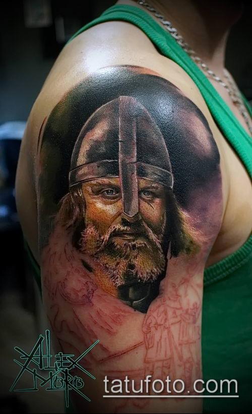 фото тату богатырь (strong man tattoo) (значение) - пример рисунка - 041 tatufoto.com