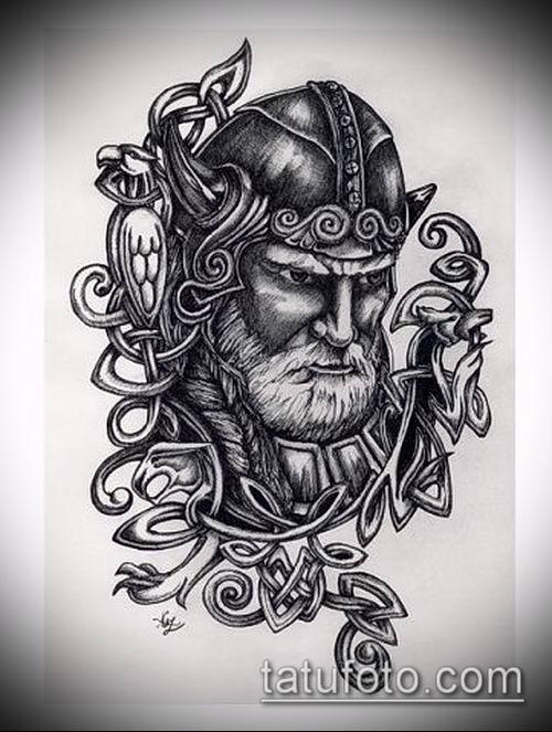 фото тату богатырь (strong man tattoo) (значение) - пример рисунка - 042 tatufoto.com