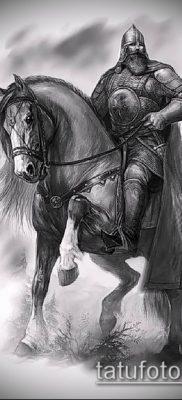 фото тату богатырь (strong man tattoo) (значение) – пример рисунка – 044 tatufoto.com