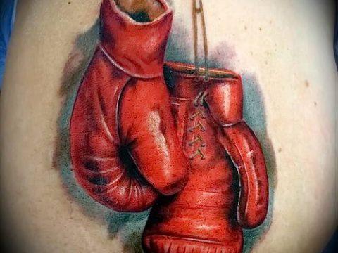 фото тату боксерские перчатки (Tattoo) (значение) - пример рисунка - 010 tatufoto.com