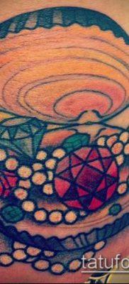 тату бриллиант №843 – эксклюзивный вариант рисунка, который хорошо можно использовать для доработки и нанесения как тату бриллиант у девушки