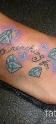 тату бриллиант №767 – достойный вариант рисунка, который легко можно использовать для доработки и нанесения как тату бриллиант на пальце