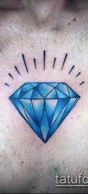 тату бриллиант №365 – интересный вариант рисунка, который легко можно использовать для переработки и нанесения как тату сова с бриллиантом