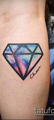 тату бриллиант №129 – классный вариант рисунка, который успешно можно использовать для преобразования и нанесения как тату бриллиант на руке