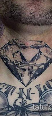 тату бриллиант №612 – эксклюзивный вариант рисунка, который успешно можно использовать для переделки и нанесения как тату бриллиант на шее
