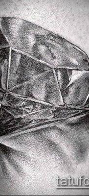 тату бриллиант №732 – крутой вариант рисунка, который удачно можно использовать для преобразования и нанесения как тату бриллиант на запястье