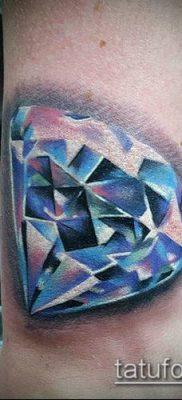 тату бриллиант №976 – интересный вариант рисунка, который успешно можно использовать для преобразования и нанесения как тату бриллиант на ребрах