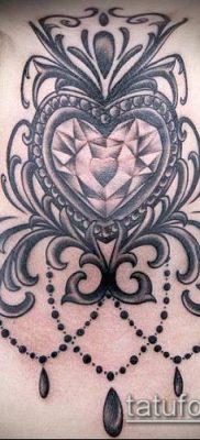 тату бриллиант №463 – интересный вариант рисунка, который хорошо можно использовать для переработки и нанесения как тату бриллиант на шее