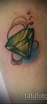 тату бриллиант №742 – крутой вариант рисунка, который успешно можно использовать для переделки и нанесения как белый бриллиант тату