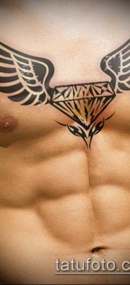 тату бриллиант №405 – интересный вариант рисунка, который удачно можно использовать для переработки и нанесения как тату бриллиант у девушки