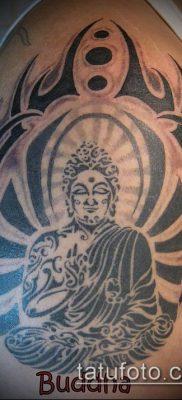 тату буддийские №110 – достойный вариант рисунка, который удачно можно использовать для доработки и нанесения как тату буддийские молитвы