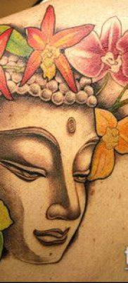 тату буддийские №510 – интересный вариант рисунка, который легко можно использовать для переделки и нанесения как тату буддийские молитвы