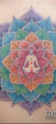 тату буддийские №341 – интересный вариант рисунка, который успешно можно использовать для переделки и нанесения как тату буддийские мантры