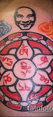 тату буддийские №972 – крутой вариант рисунка, который успешно можно использовать для переработки и нанесения как тату буддийские мантры