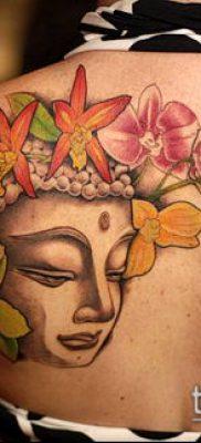 тату буддийские №484 – достойный вариант рисунка, который удачно можно использовать для доработки и нанесения как тату буддизм на руке