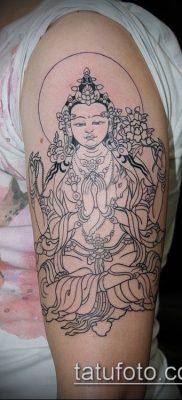 тату буддийские №753 – эксклюзивный вариант рисунка, который удачно можно использовать для преобразования и нанесения как тату буддизм на руке