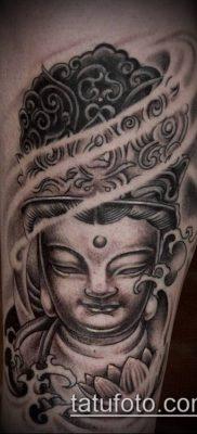 тату буддийские №744 – классный вариант рисунка, который удачно можно использовать для доработки и нанесения как тату буддийский узел
