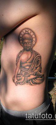 тату буддийские №623 – прикольный вариант рисунка, который успешно можно использовать для переработки и нанесения как тату буддизм на руке