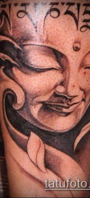 тату буддийские №802 – крутой вариант рисунка, который удачно можно использовать для переделки и нанесения как тату буддийские молитвы