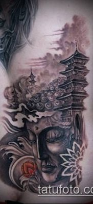 тату буддийские №842 – прикольный вариант рисунка, который успешно можно использовать для доработки и нанесения как тату буддийский узел