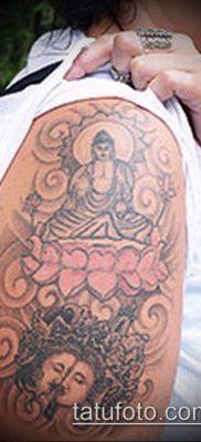 тату буддийские №449 – эксклюзивный вариант рисунка, который хорошо можно использовать для преобразования и нанесения как тату буддизм на руке