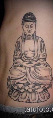 тату буддийские №135 – эксклюзивный вариант рисунка, который легко можно использовать для переработки и нанесения как тату буддийских монахов