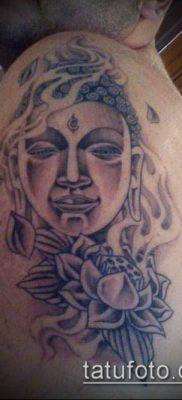 тату буддийские №940 – крутой вариант рисунка, который успешно можно использовать для переработки и нанесения как тату буддизм символы