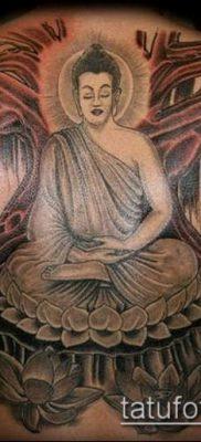 тату буддийские №489 – крутой вариант рисунка, который успешно можно использовать для доработки и нанесения как тату буддийские надписи