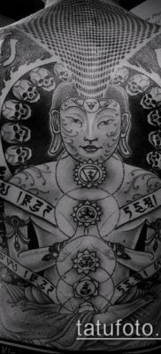 тату буддийские №173 – прикольный вариант рисунка, который удачно можно использовать для переработки и нанесения как тату буддизм на руке