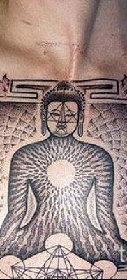 тату буддийские №913 – прикольный вариант рисунка, который удачно можно использовать для доработки и нанесения как буддийские тату обереги