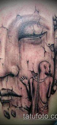 тату буддийские №828 – достойный вариант рисунка, который хорошо можно использовать для переделки и нанесения как тату буддийская мандала