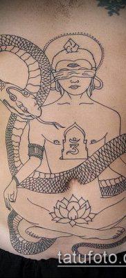 тату буддийские №895 – крутой вариант рисунка, который успешно можно использовать для переделки и нанесения как тату буддийская мандала