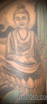 тату буддийские №865 – прикольный вариант рисунка, который удачно можно использовать для доработки и нанесения как тату буддийские надписи