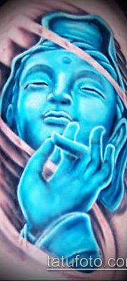 тату буддийские №532 – достойный вариант рисунка, который успешно можно использовать для доработки и нанесения как тату буддизм на руке