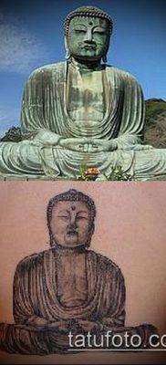 тату буддийские №610 – крутой вариант рисунка, который хорошо можно использовать для преобразования и нанесения как тату буддийский узел