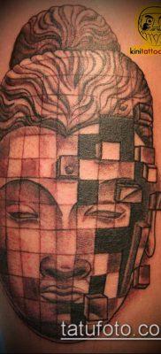 тату буддийские №373 – прикольный вариант рисунка, который успешно можно использовать для переделки и нанесения как тату буддийская мандала