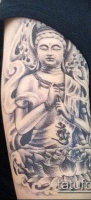 тату буддийские №877 – прикольный вариант рисунка, который успешно можно использовать для переработки и нанесения как тату буддизм символы